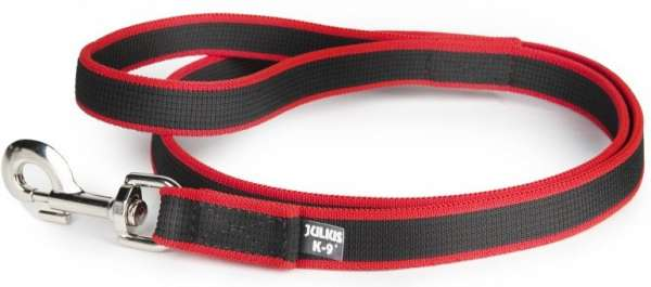 Julius K9 Premium Joggingleine, schwarz/rot