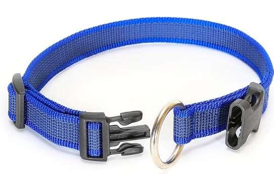 """Julius K9 Halsband """"Color & Gray"""" grau-blau, 25mm"""