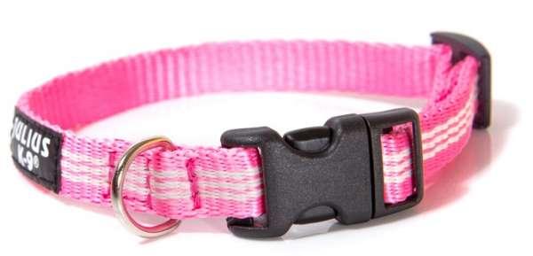 Julius K9 IDC® Halsband aus Schlauchgurt, pink, 14mm, 24-36cm