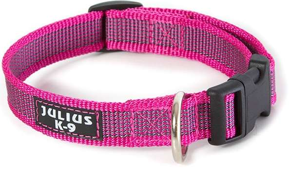 "Julius K9 Halsband ""Color & Gray"" grau-pink, 20mm"