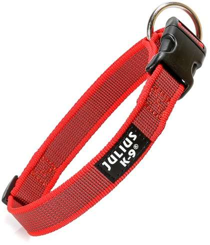 "Julius K9 Halsband ""Color & Gray"" grau-rot, 25mm"