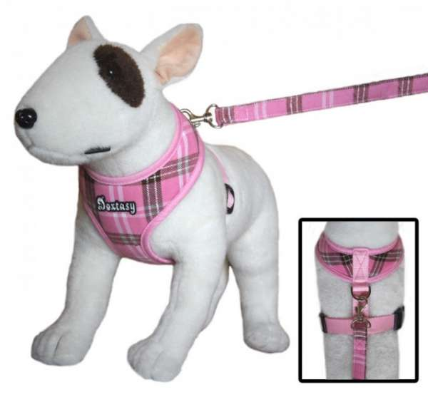 Doxtasy Round Loop Scottish pink Hundegeschirr